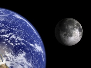 Earth and Moon.